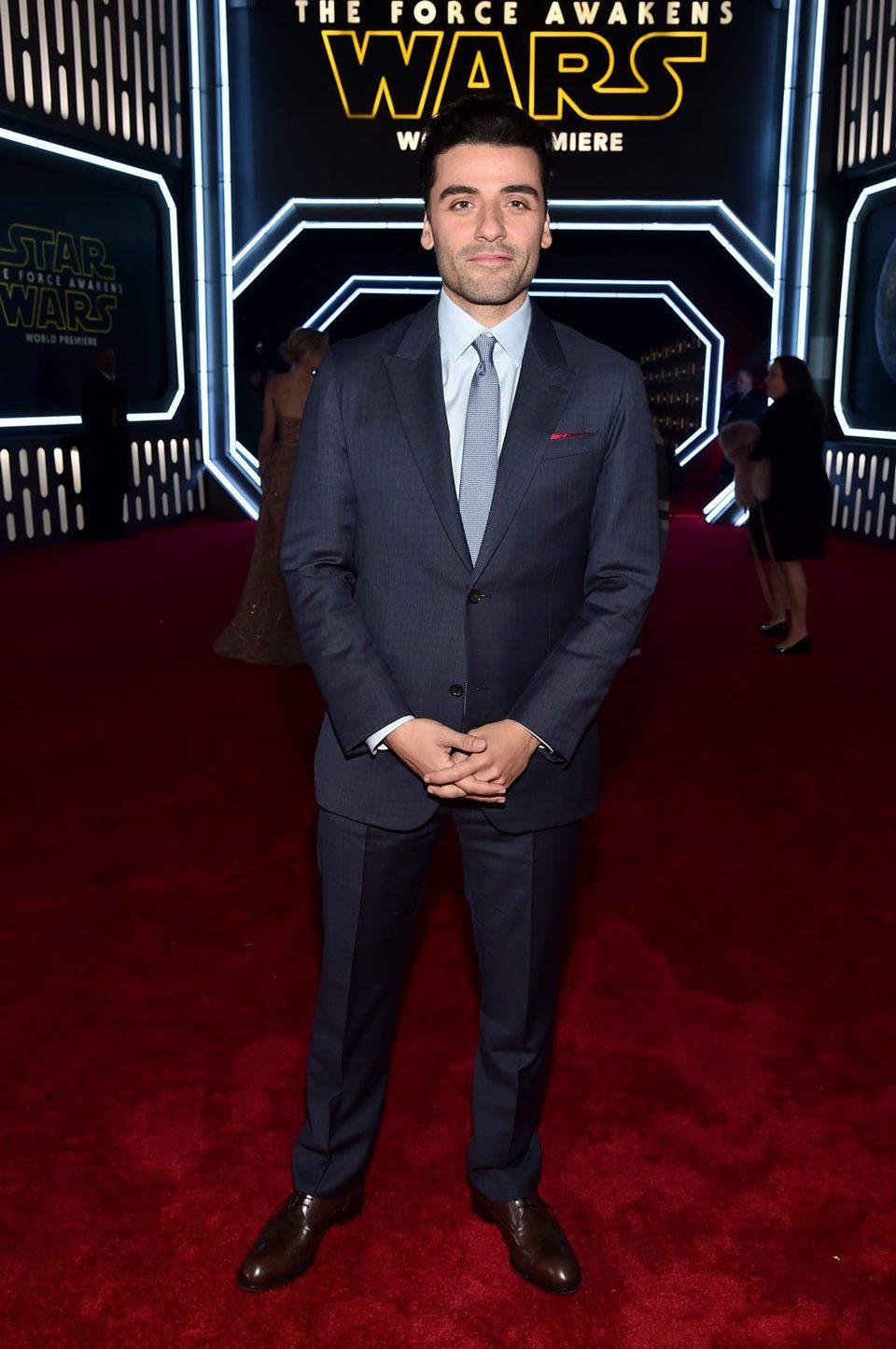Oscar Isaac en la premiere de 'Star Wars: El despertar de la fuerza'