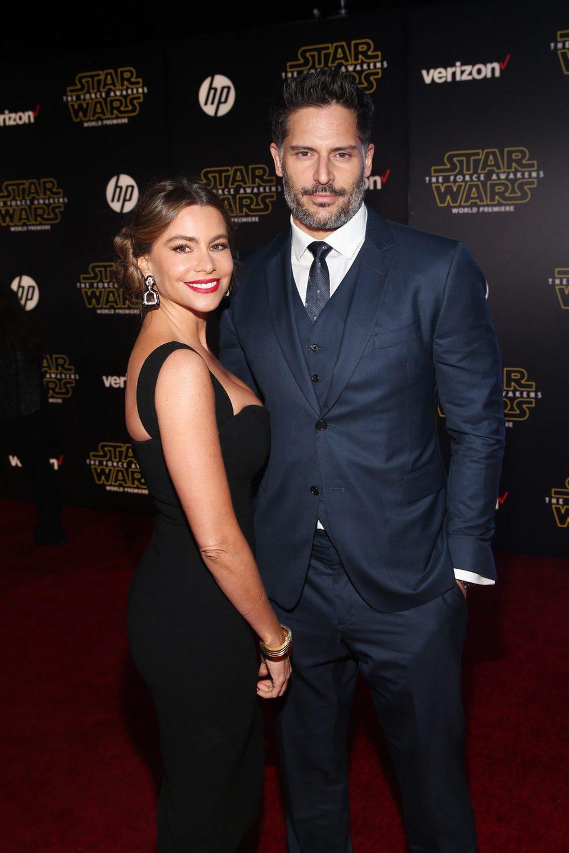 Sofía Vergara y Joe Manganiello en la premiere de 'Star Wars: El despertar de la fuerza'