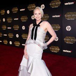 Gwendoline Christie en la premiere de 'Star Wars: El despertar de la fuerza'