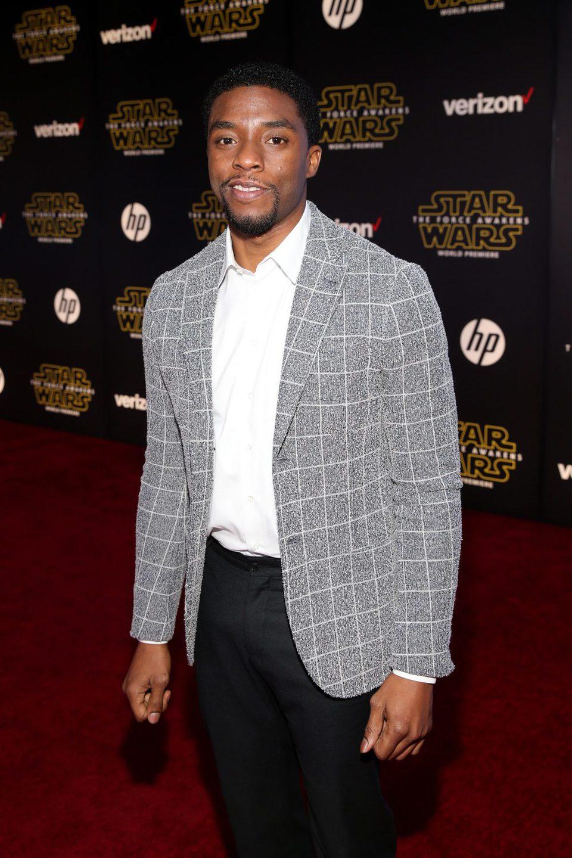Chadwick Boseman en la premiere de 'Star Wars: El despertar de la fuerza'