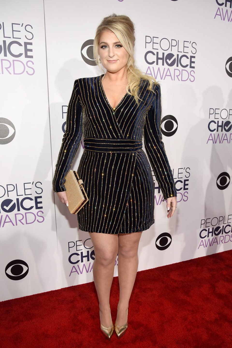Meghan Trainor durante los People's Choice Awards 2016