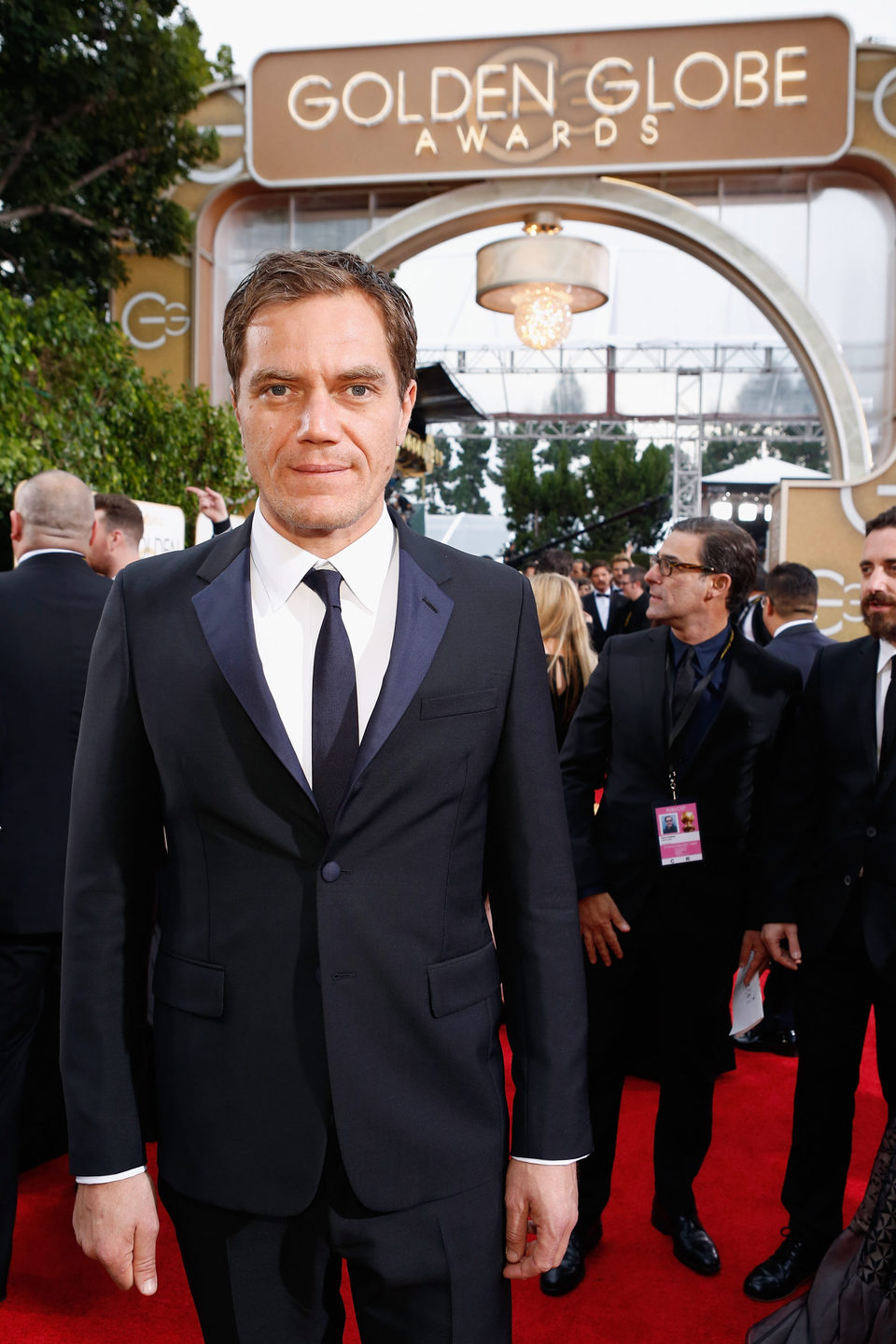 Michael Shannon at the 2016 Golden Globes red carpet