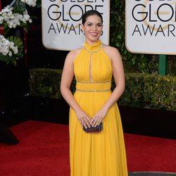 America Ferrera en la alfombra roja de los Globos de Oro 2016