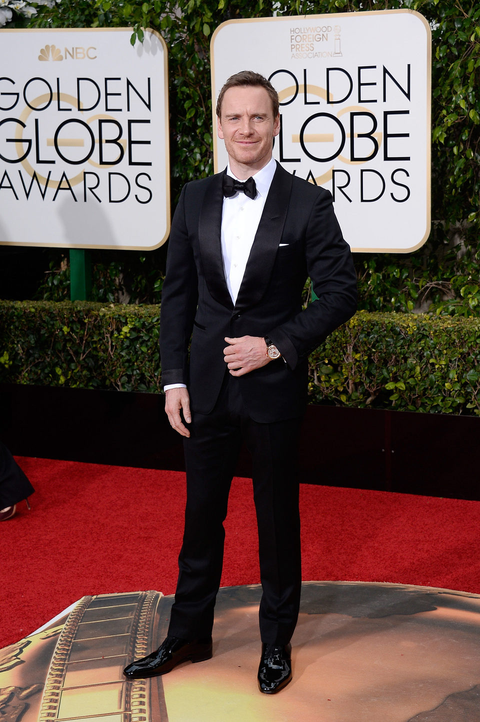 Michael Fassbender at the 2016 Golden Globes red carpet