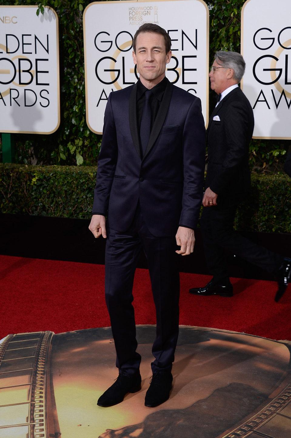 Tobias Menzies en la alfombra roja de los Globos de Oro 2016