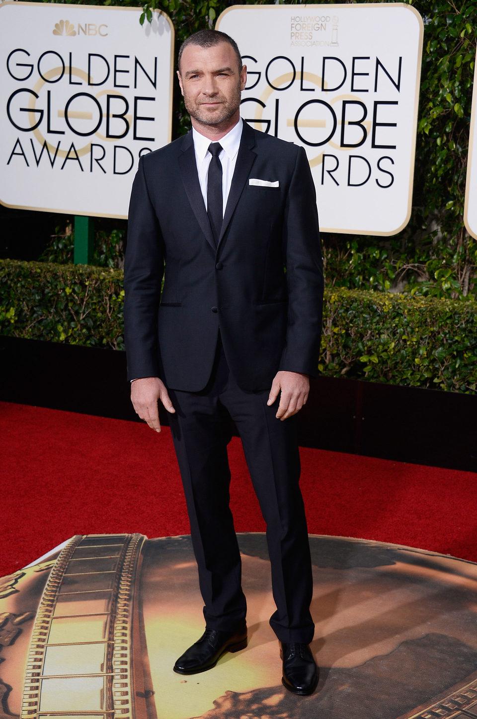 Liev Schreiber at the 2016 Golden Globes red carpet