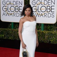 Taraji P. Henson in the 2016 Golden Globes red carpet