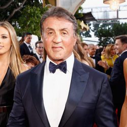 Sylvester Stallone at the 2016 Golden Globes red carpet