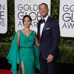 Will Smith and Jada Pinkett Smith at the 2016 Golden Globes red carpet