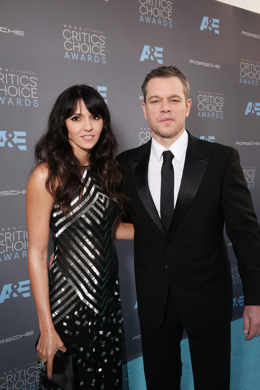Matt Damon no se perdió la gala de los Critics Choice Awards 2016