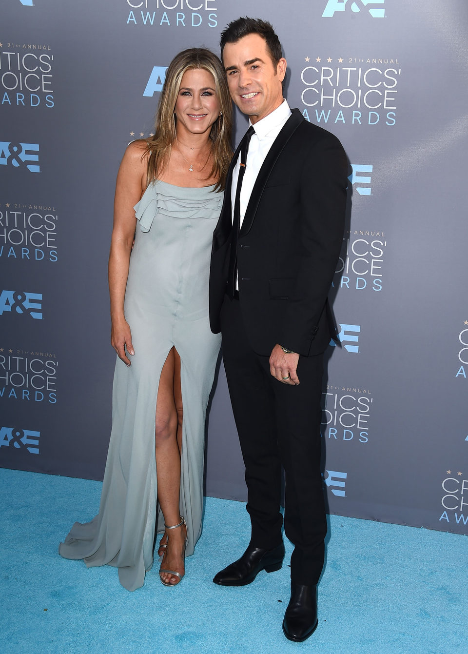 Jennifer Aniston y Justin Theroux no se perdieron los Critics Choice awards 2016