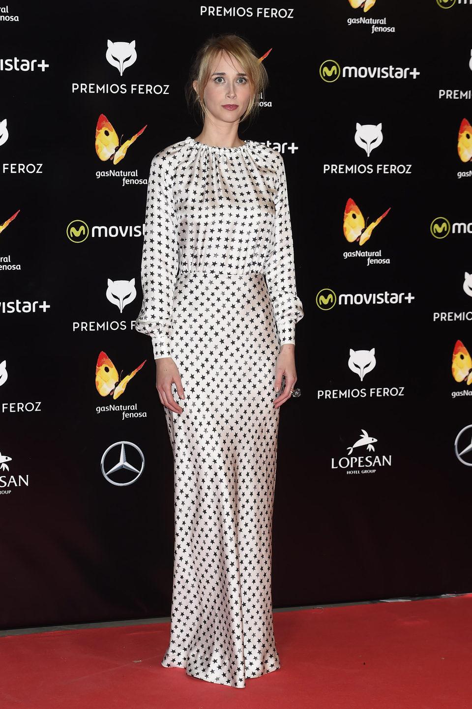 Ingrid García Jonsson en la Alfombra Roja de los Premios Feroz 2016