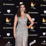 Celia Freijeiro en la Alfombra Roja de los Premios Feroz 2016