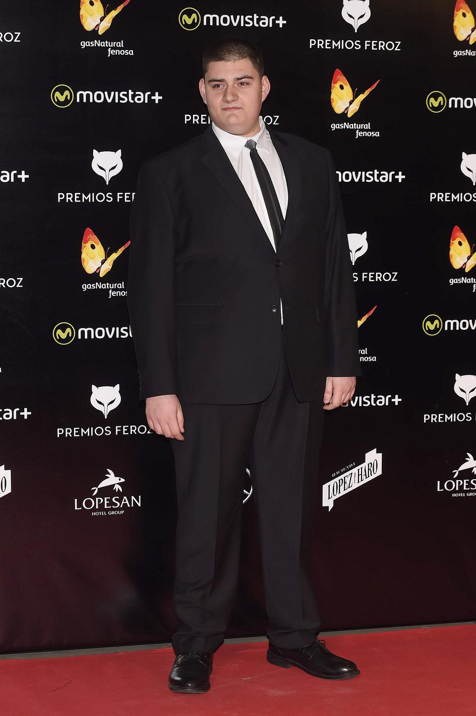 Antonio Bachiller en la alfombra roja de los premios Feroz 2016