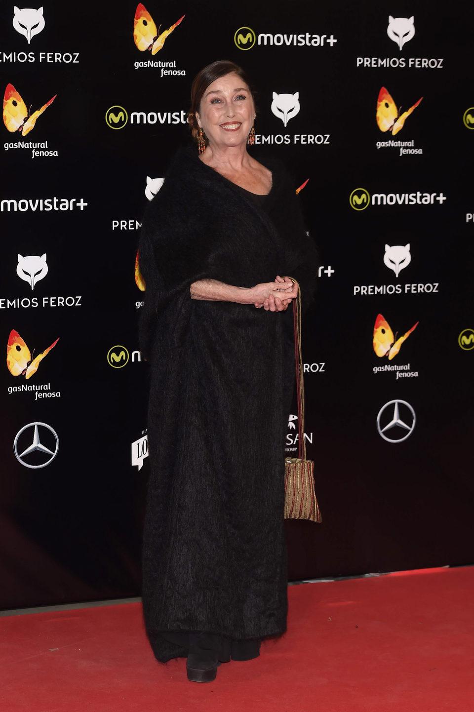 Verónica Forqué en la alfombra roja de los Premios Feroz 2016