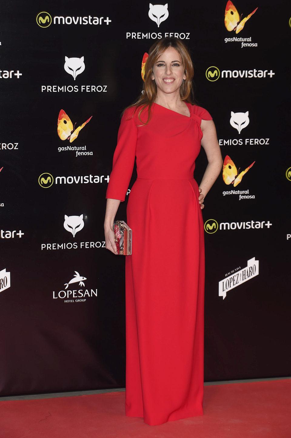 Celia de Molina en la alfombra roja de los Premios Feroz 2016