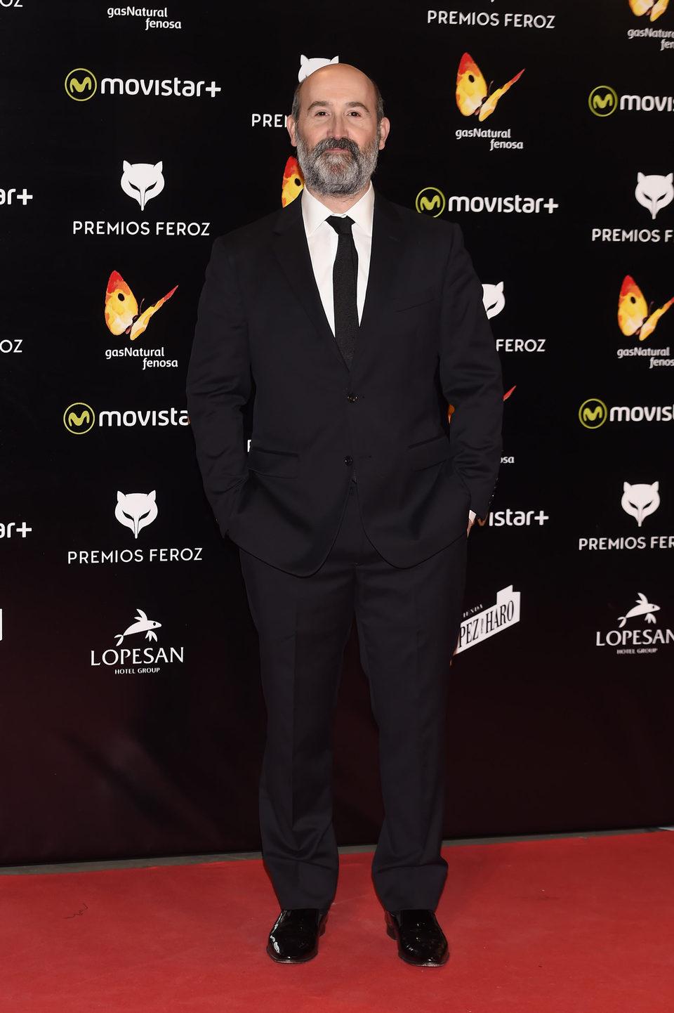 Javier Cámara en la alfombra roja de los Premios Feroz 2016