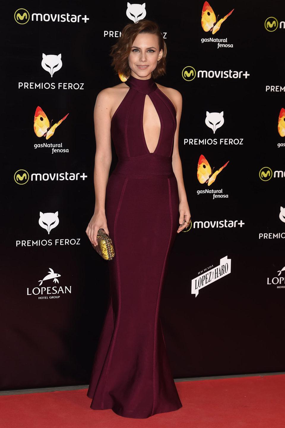 Aura Garrido en la alfombra roja de los Premios Feroz 2016