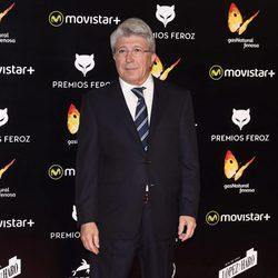 Enrique Cerezo en la alfombra roja de los Premios Feroz 2016