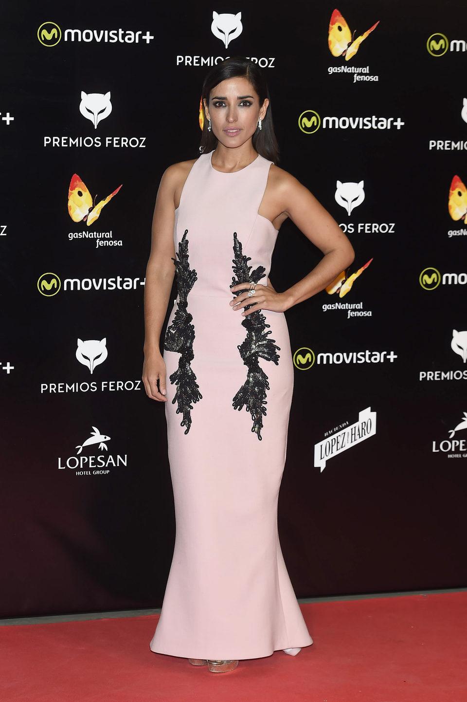 Inma Cuesta en la alfombra roja de los Premios Feroz 2016