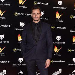 Asier Etxendia en la alfombra roja de los Premios Feroz 2016