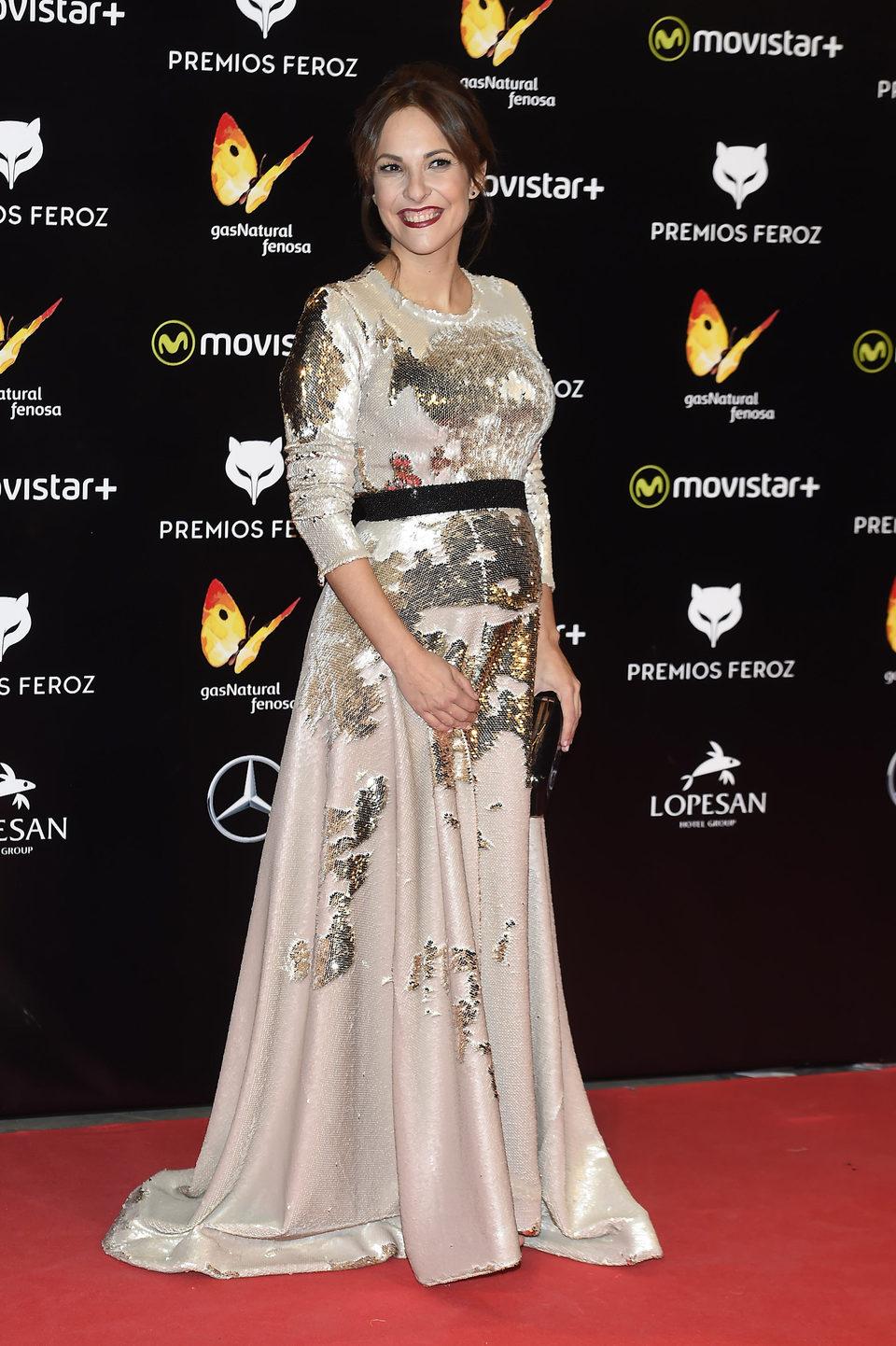 Paula Ortiz en la alfombra roja de los Premios Feroz 2016