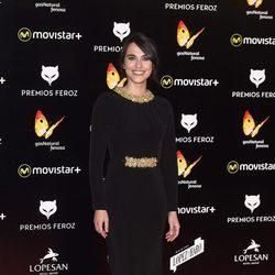 Veronika Moral en la alfombra roja de los Premios Feroz 2016