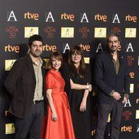 Cesc Gay, Paula Ortiz, Isabel Coixet y Fernando León de Aranoa en la cena de los nominados a los Goya 2016