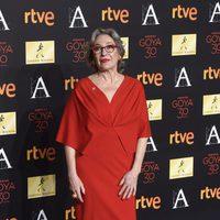 Luisa Gavasa en la cena de los nominados a los Goya 2016