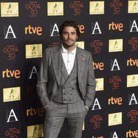 Álex García en la cena de los nominados a los Goya 2016