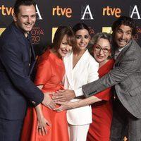 El equipo de 'La novia' acude a la cena de los nominados a los Goya 2016