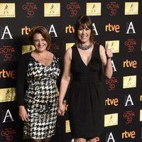 Annabelle Aramburu y Mabel Lozano en la cena de los nominados a los Goya 2016