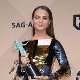 Alicia Vikander, mejor actriz de reparto en los SAG Awards 2016
