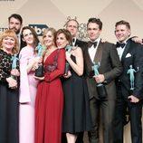 El reparto de 'Downton Abbey' con sus premios en los SAG Awards 2016
