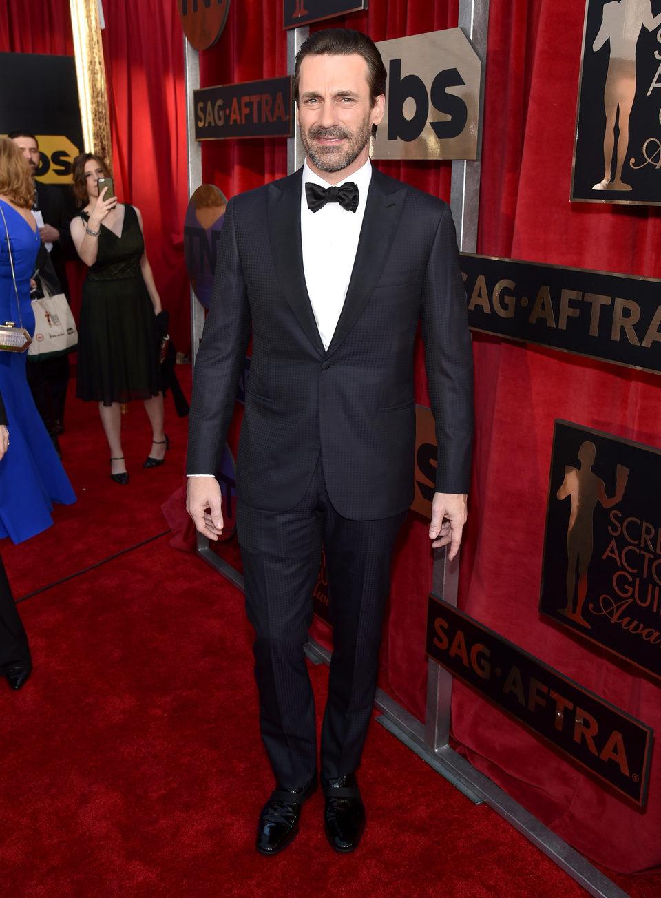 Jon Hamm en la alfombra roja de los SAG Awards 2016