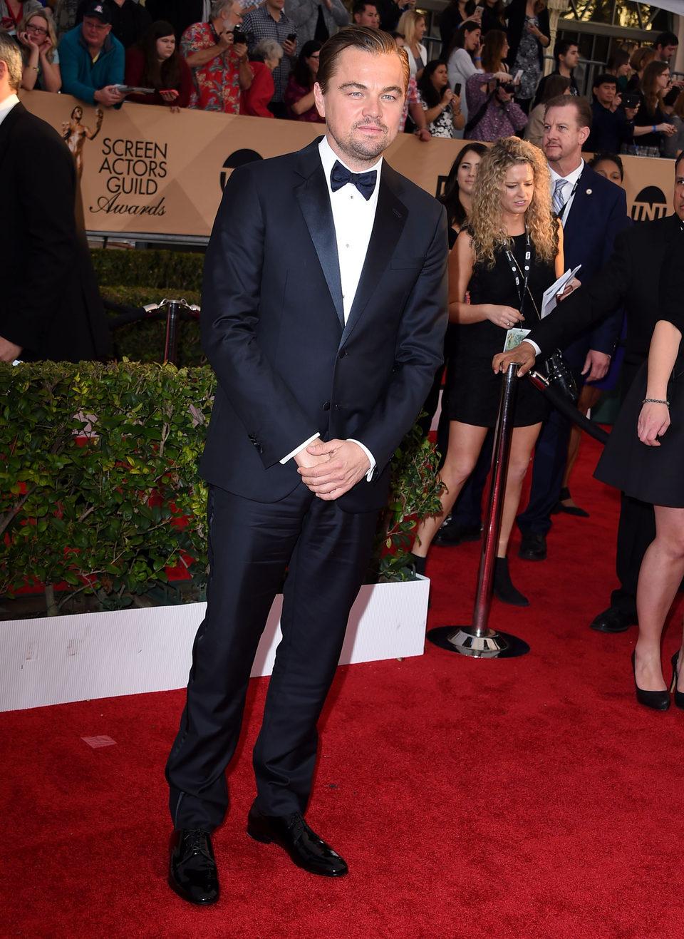 Leonardo DiCaprio en la alfombra roja de los SAG Awards 2016