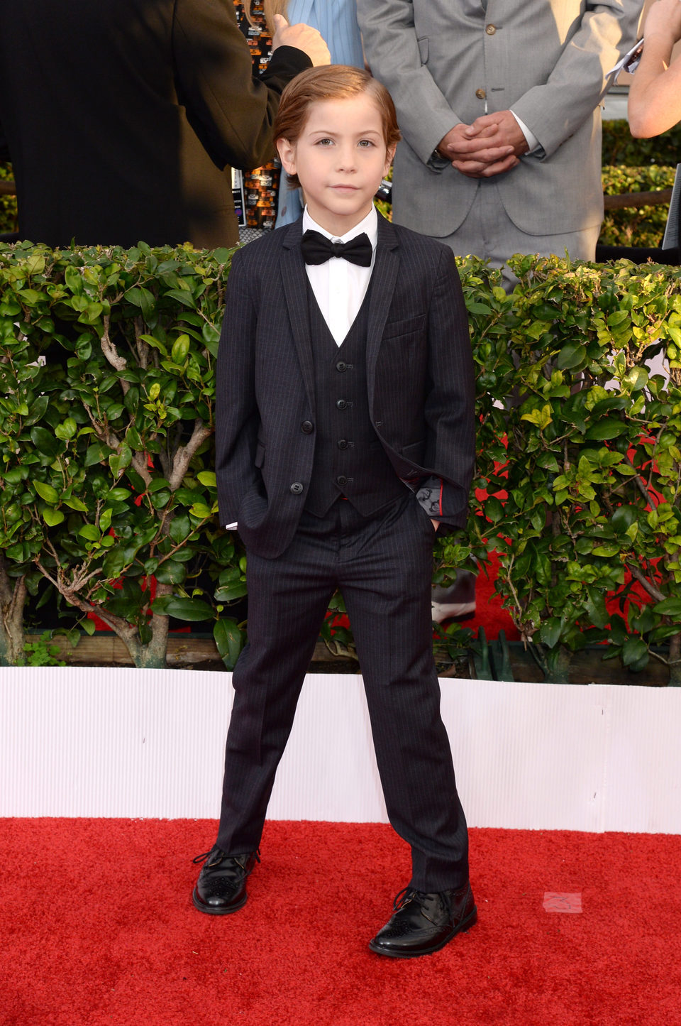 Jacob Tremblay en la alfombra roja de los SAG Awards 2016