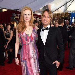 Nicole Kidman y Keith Urban en la alfombra roja de los SAG Awards 2016
