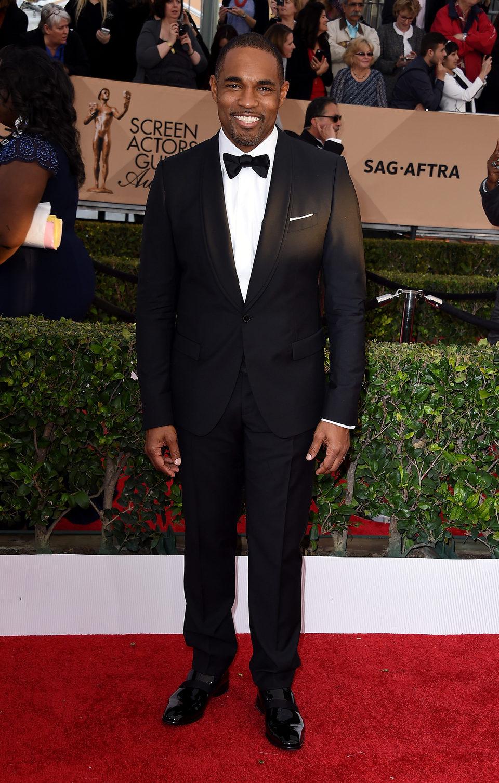 Jason George en la alfombra roja de los SAG Awards 2016