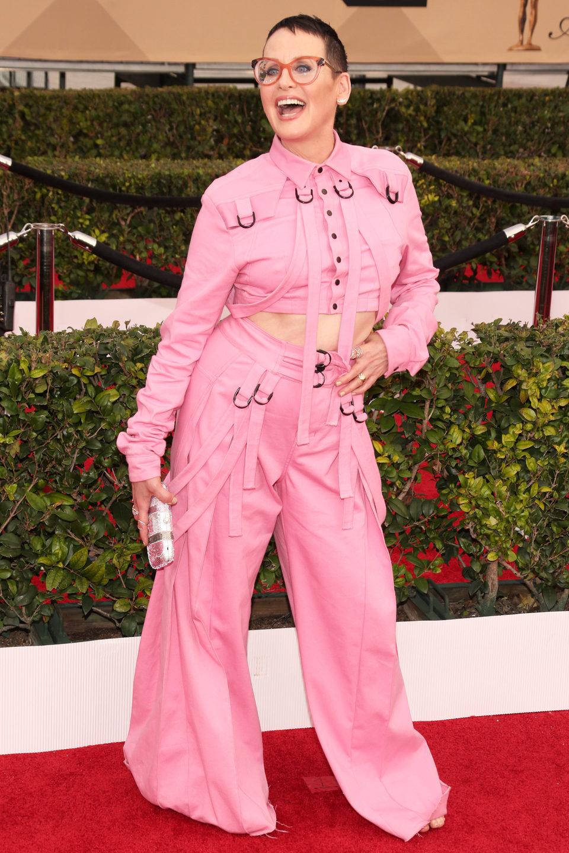 Lori Petty en la alfombra roja de los SAG Awards 2016