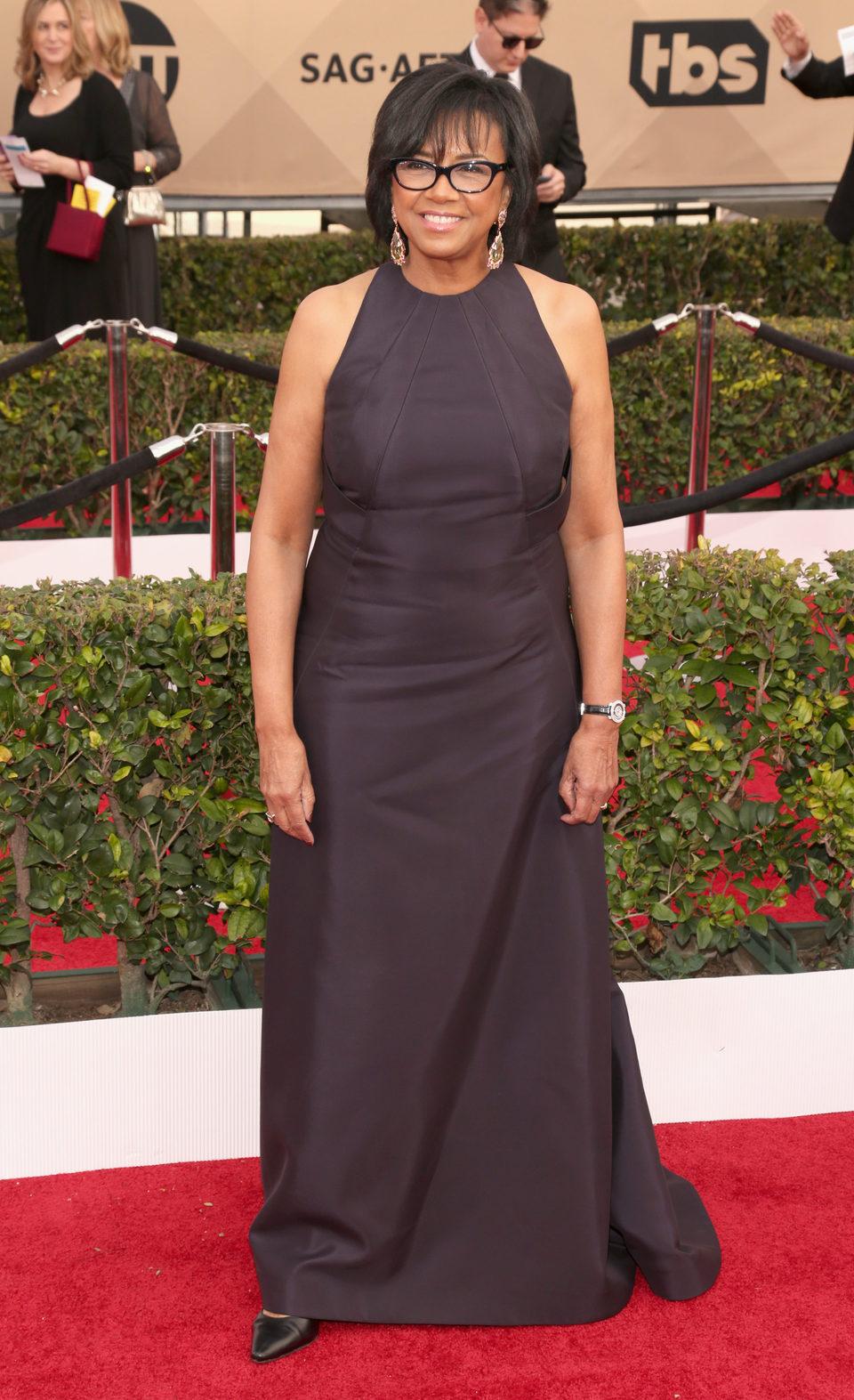 Cheryl Boone Isaacs en la alfombra roja de los SAG Awards 2016