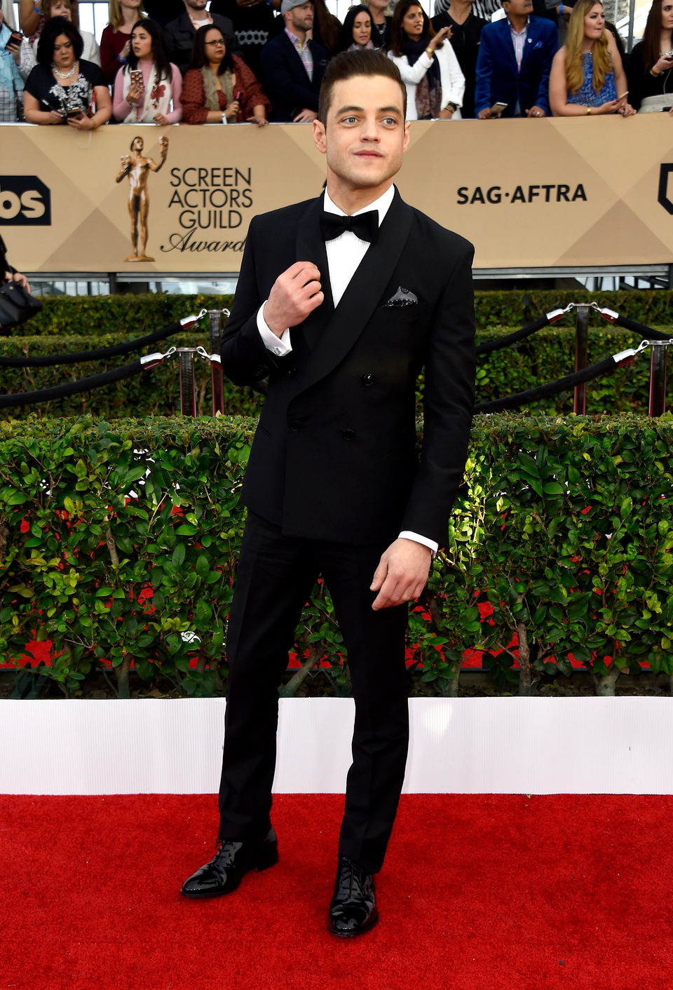 Rami Malek en la alfombra roja de los SAG Awards 2016