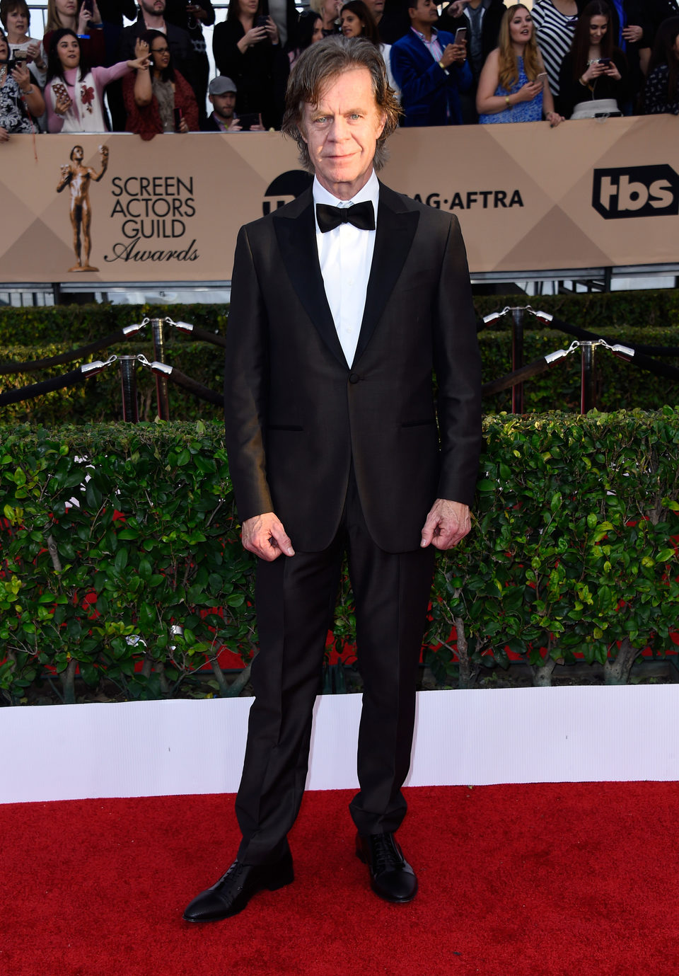 William H. Macy in red carpet of SAG Awards 2016