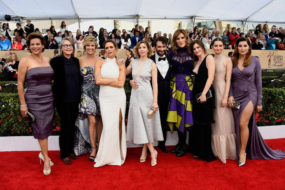 El reparto de 'Transparent' en la alfombra roja de los SAG Awards 2016