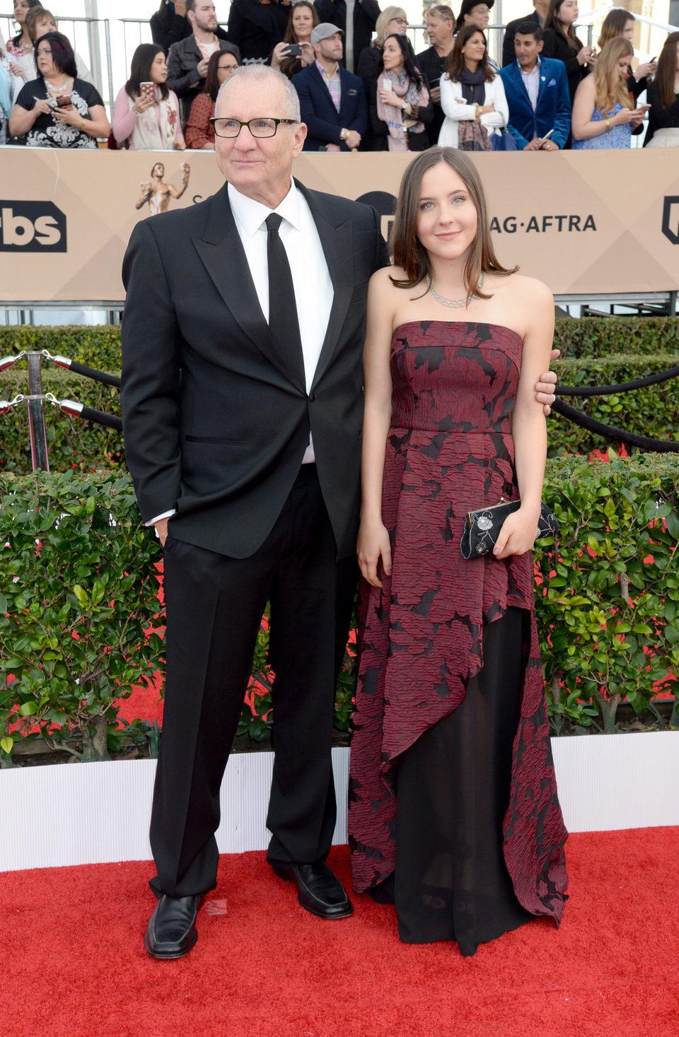 Ed O'Neill and Sophia O'Neill at the SAG Awards 2016 red carpet