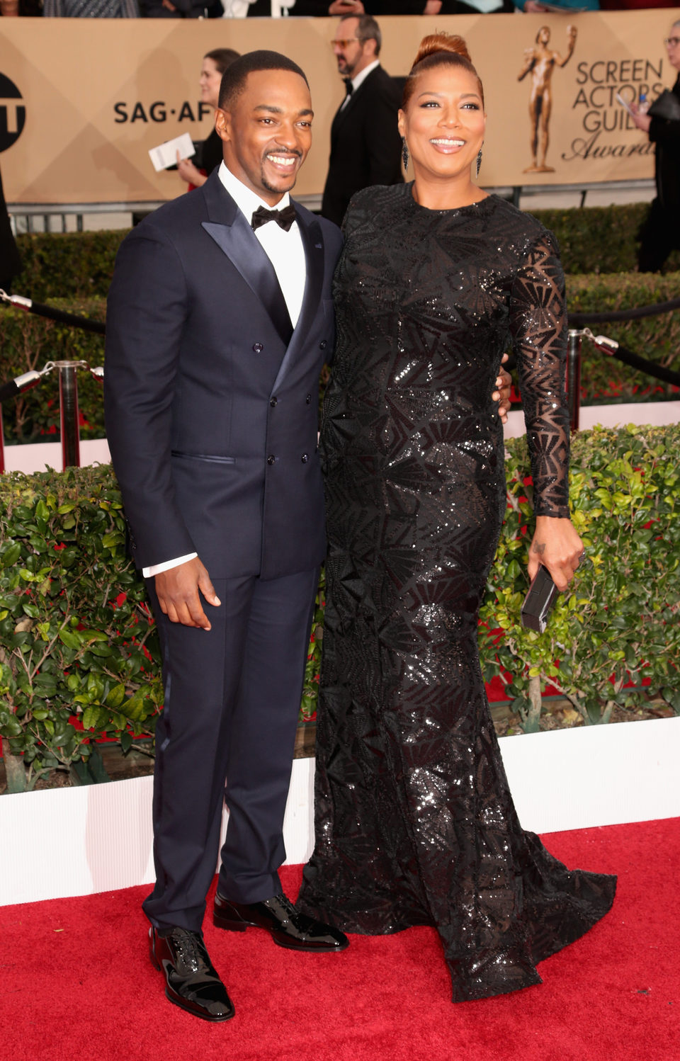 Anthony Mackie and Queen Latifah in SAG Awards 2016
