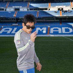 Derek Zoolander posa en el Santiago Bernabéu