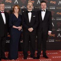 Gracia Querejeta y Antonio Resines en los premios Goya 2016