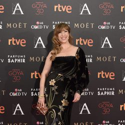 Natalie Seseña en la alfombra roja de los premios Goya 2016