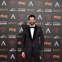 Miguel Ángel Muñoz en la alfombra roja de los premios Goya 2016